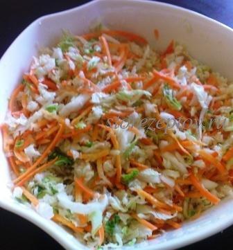 Морковь с пекинской капустой