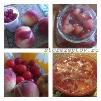 Два рецепта вкусного варенья из персиков с добавлением сливы или малины – пошаговое фото
