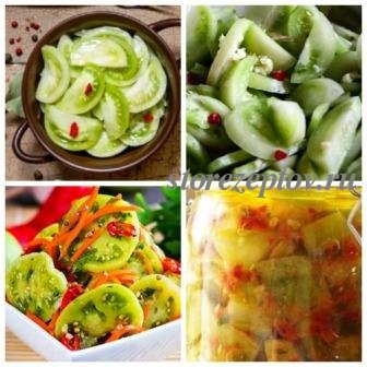 Салат из зеленых помидор по-корейски на зиму
