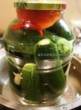 Стерилизация маринованных овощей в банке