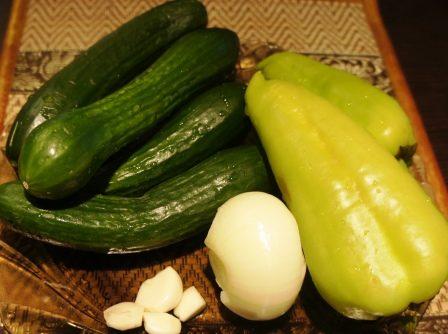 Продукты для зимнего овощного салата