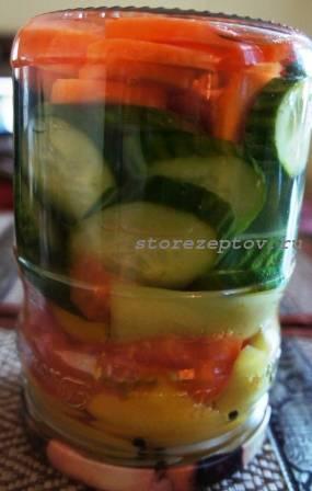 Готовое маринованное ассорти из овощей
