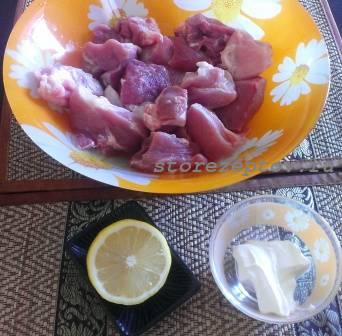 Ингредиенты для жаренной сочной свинины