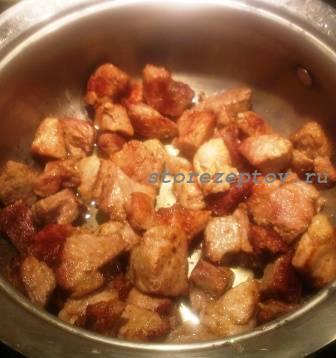 Поджаренная свинина