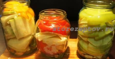 Овощи для маринования слоями