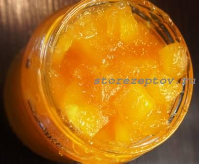 Готовое варенье из кабачков и апельсина