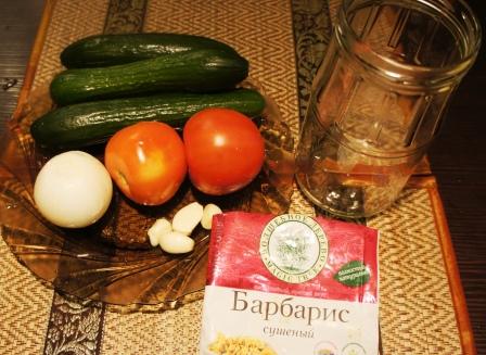 Ингредиенты для зимнего овощного салата