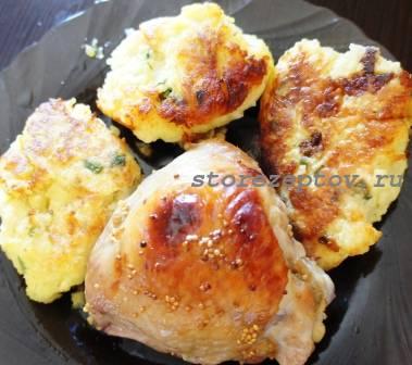 Куриные будра в сладко-остром соусе, запеченные в духовке: рецепт с фото