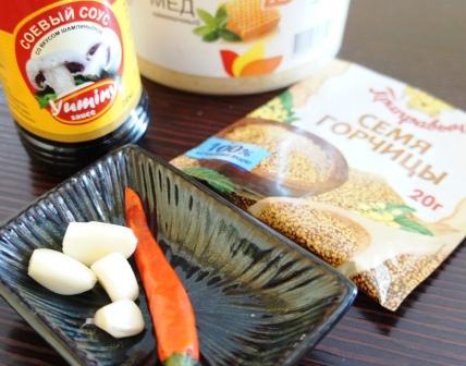 Ингредиенты для сладко-острого соуса