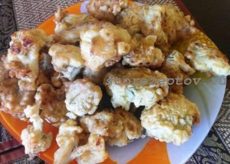 Рецепт приготовления цветной капусты в кляре: видео, фото