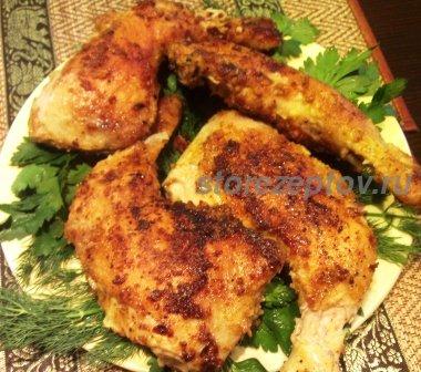 Жареные куриные окорочка в панировке на сковороде: рецепт пошаговый с фото