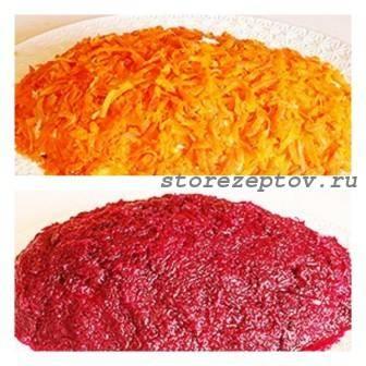 "Слой моркови и свеклы для салата ""Шуба"""