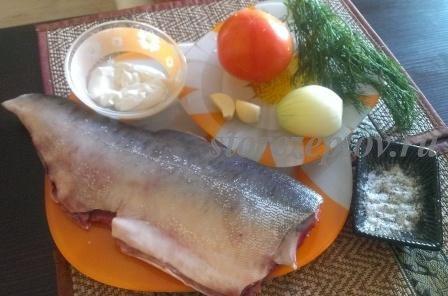 Необходимые для приготовления горбуши в духовке продукты