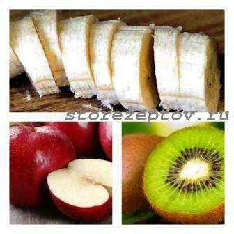 3 простых и вкусных фруктовых салата с бананами, яблоками и другими фруктами