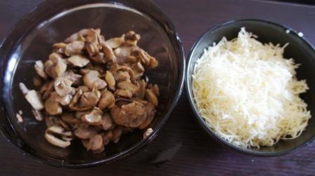 Начинка для тарталеток из грибов и сыра