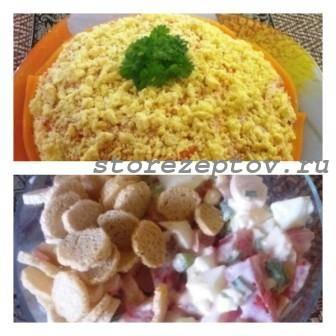 2 салата с крабовыми палочками: пошаговые рецепты без кукурузы