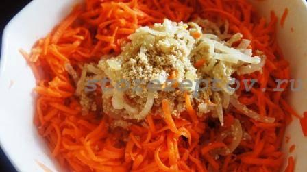 Заправка моркови по-корейски