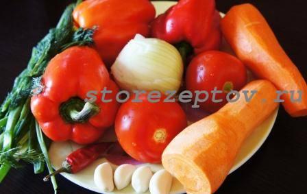 Овощи для кисло-сладкого рагу с курицей