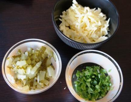 Ингредиенты для начинки для зраз
