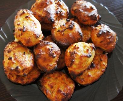 Готовое печенье из овсяных хлопьев и творога