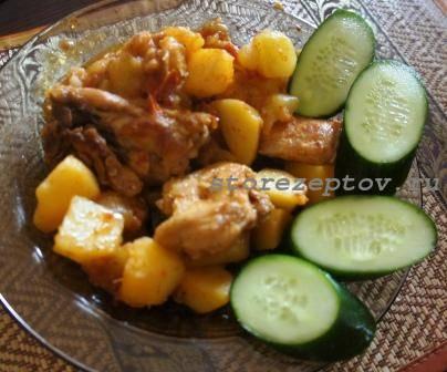 Курица тушеная с кабачками и картошкой: пошаговый рецепт с фото