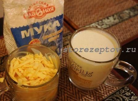 Ингредиенты для приготовления теста на сырные лепешки
