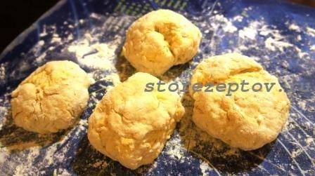 Тесто для сырных лепешек на кефире