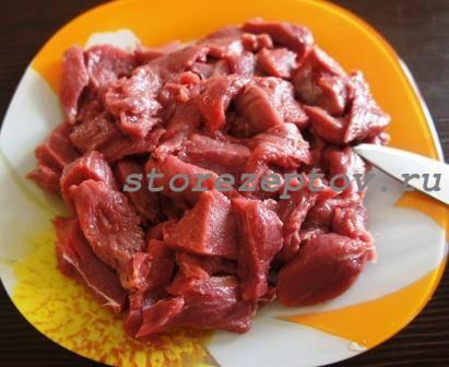 Говядина брусочками для запекания в духовке