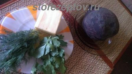 Продукты для приготовления свекольного салата с сыром