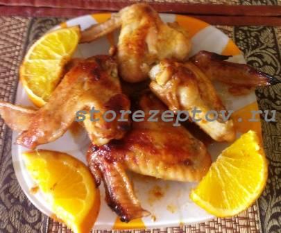 Куриные крылышки с апельсинами в духовке: рецепт с фото пошагово
