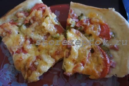 Вкусное, быстрое тесто для пиццы за 15 минут: рецепт пошаговый с фото