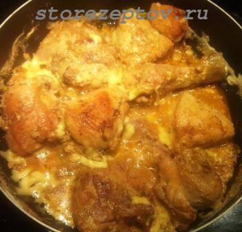 Курица в молочно-сырном соусе
