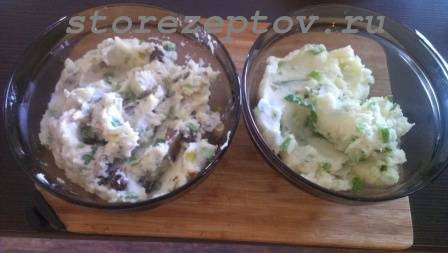 Картошка-пюре с картошкой и луком