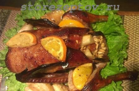Утка в духовке с яблоками и апельсинами: пошаговый рецепт с фото