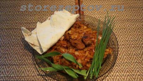 Готовое блюдо бигус