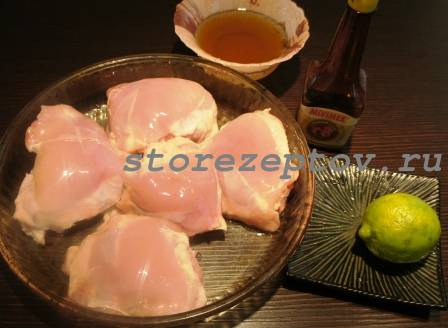 Ингредиенты для маринования куриных бедер
