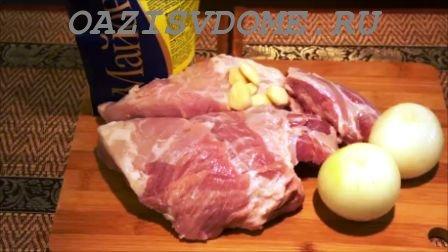 Продукты для свинины в майонезе