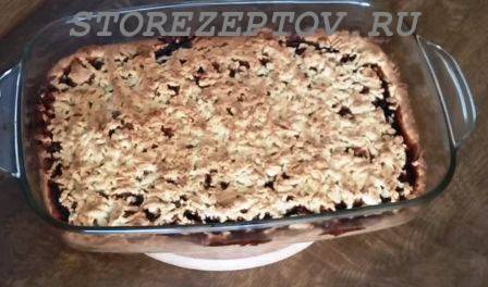 Рецепт тертого пирога с вареньем из песочного теста