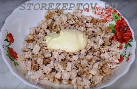 Курица для салата