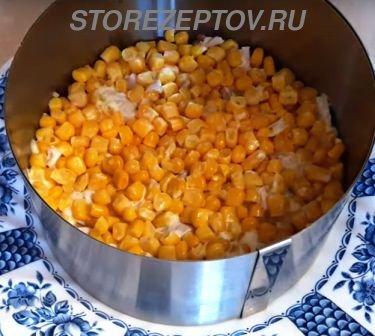 Слой кукурузы в салате