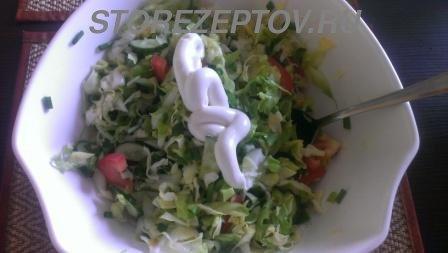 Заправка салата из свежей капусты
