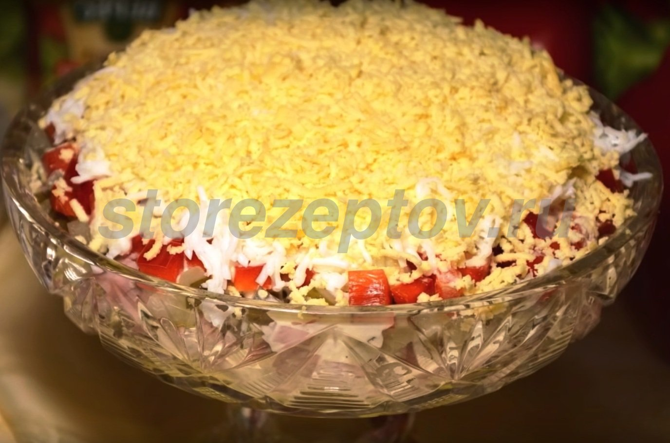 Быстрый праздничный салат