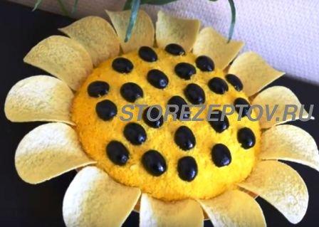 Салат Цветок Подсолнуха