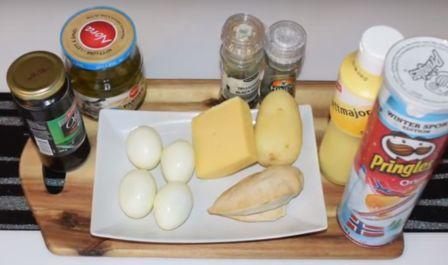 Продукты для приготовления салата Подсолнух