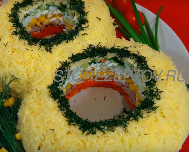 Рецепт вкусного салата на 8 марата