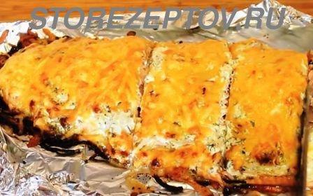 Рецепт филе горбуши под сыром в духовке