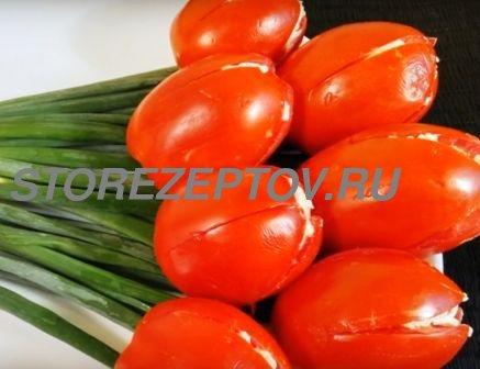 Рецепт салата-закуски Тюльпаны