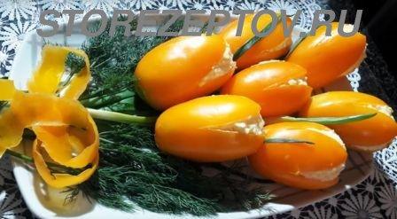 Закуска Букет Тюльпанов с креветками