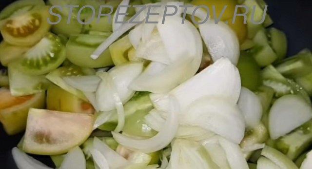 Готовим на зиму салат из зеленых помидор