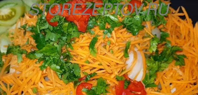 Острый салат на зиму из зеленых томатов